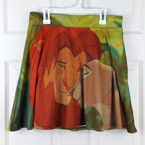Disney Lion King Simba & Nala Skirt Sz. L